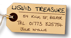 Liquid Treasure, 59 King Street, Belper. 01773-825754